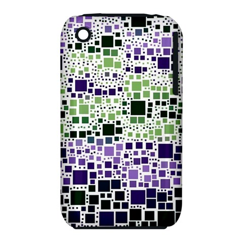 Block On Block, Purple Apple iPhone 3G/3GS Hardshell Case (PC+Silicone)