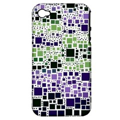 Block On Block, Purple Apple iPhone 4/4S Hardshell Case (PC+Silicone)