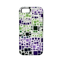 Block On Block, Purple Apple iPhone 5 Classic Hardshell Case (PC+Silicone)