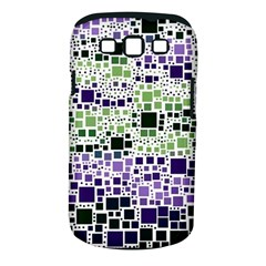 Block On Block, Purple Samsung Galaxy S III Classic Hardshell Case (PC+Silicone)