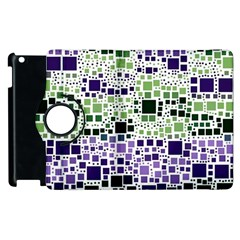 Block On Block, Purple Apple iPad 2 Flip 360 Case