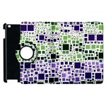 Block On Block, Purple Apple iPad 2 Flip 360 Case Front