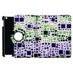 Block On Block, Purple Apple iPad 3/4 Flip 360 Case Front