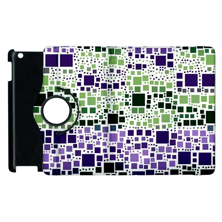Block On Block, Purple Apple iPad 3/4 Flip 360 Case