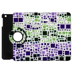 Block On Block, Purple Apple iPad Mini Flip 360 Case