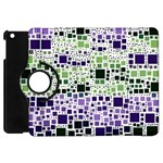 Block On Block, Purple Apple iPad Mini Flip 360 Case Front