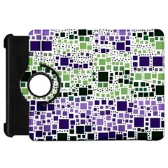 Block On Block, Purple Kindle Fire Hd Flip 360 Case