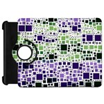 Block On Block, Purple Kindle Fire HD Flip 360 Case Front