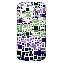 Block On Block, Purple Samsung Galaxy S3 S III Classic Hardshell Back Case