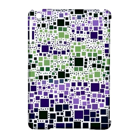 Block On Block, Purple Apple iPad Mini Hardshell Case (Compatible with Smart Cover)