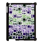 Block On Block, Purple Apple iPad 3/4 Case (Black) Front