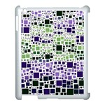 Block On Block, Purple Apple iPad 3/4 Case (White) Front