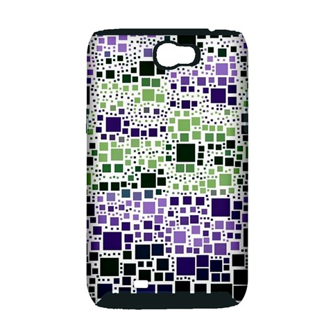 Block On Block, Purple Samsung Galaxy Note 2 Hardshell Case (PC+Silicone)