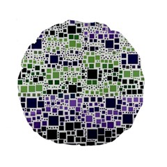 Block On Block, Purple Standard 15  Premium Round Cushions