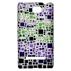 Block On Block, Purple HTC 8S Hardshell Case