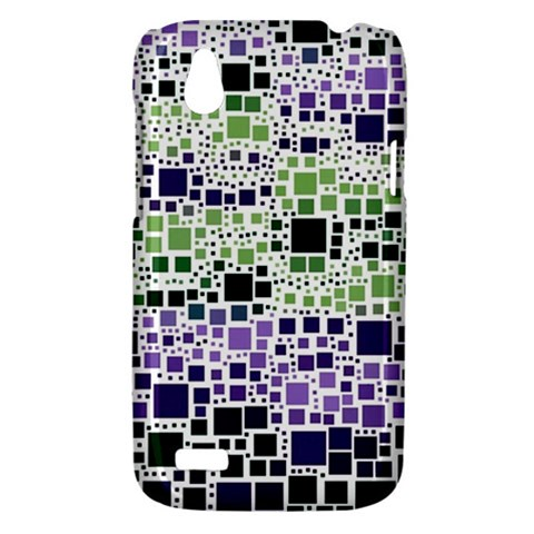 Block On Block, Purple HTC Desire V (T328W) Hardshell Case