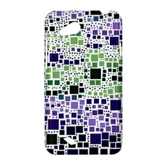 Block On Block, Purple HTC Desire VC (T328D) Hardshell Case