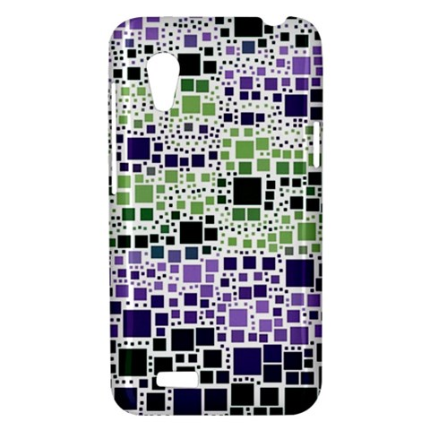 Block On Block, Purple HTC Desire VT (T328T) Hardshell Case