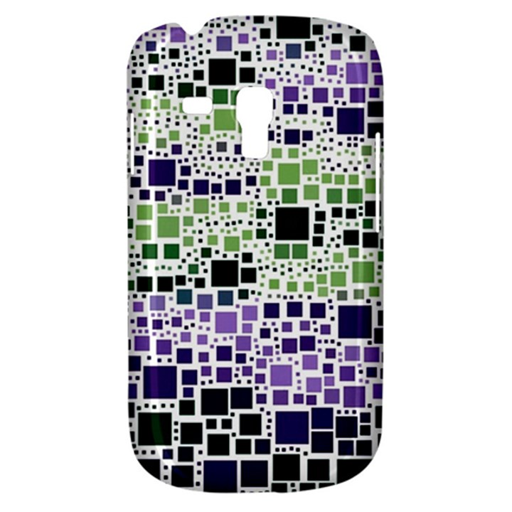 Block On Block, Purple Samsung Galaxy S3 MINI I8190 Hardshell Case