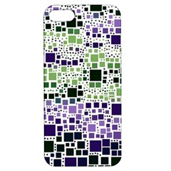 Block On Block, Purple Apple iPhone 5 Hardshell Case with Stand