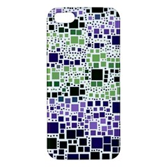 Block On Block, Purple Apple iPhone 5 Premium Hardshell Case