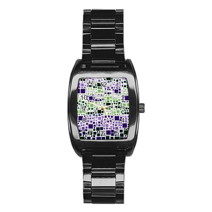 Block On Block, Purple Stainless Steel Barrel Watch