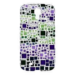 Block On Block, Purple Samsung Galaxy S4 I9500/I9505 Hardshell Case