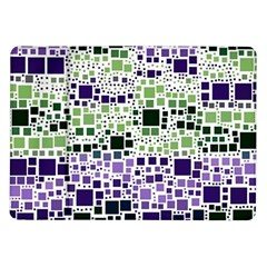 Block On Block, Purple Samsung Galaxy Tab 10.1  P7500 Flip Case