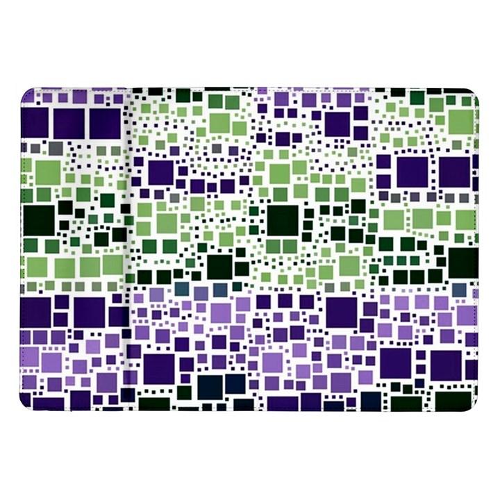 Block On Block, Purple Samsung Galaxy Tab 10.1  P7500 Flip Case
