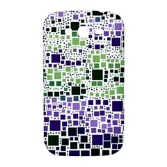 Block On Block, Purple Samsung Galaxy Grand DUOS I9082 Hardshell Case