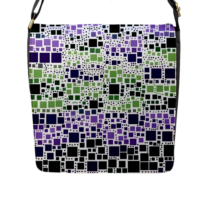 Block On Block, Purple Flap Messenger Bag (L)