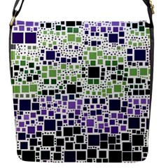 Block On Block, Purple Flap Messenger Bag (s)