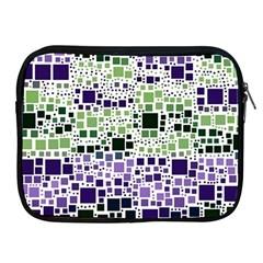 Block On Block, Purple Apple iPad 2/3/4 Zipper Cases