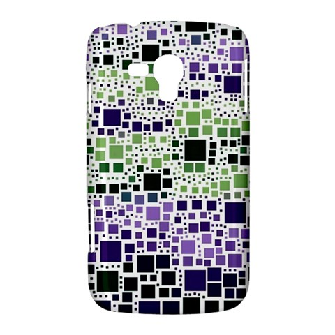 Block On Block, Purple Samsung Galaxy Duos I8262 Hardshell Case