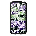 Block On Block, Purple Samsung Galaxy S4 I9500/ I9505 Case (Black) Front