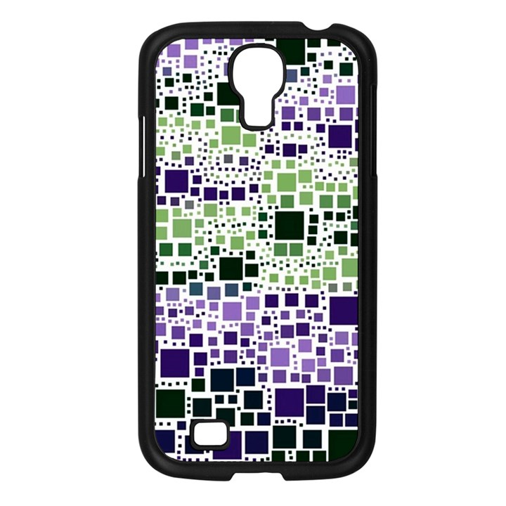 Block On Block, Purple Samsung Galaxy S4 I9500/ I9505 Case (Black)