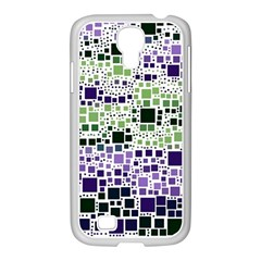 Block On Block, Purple Samsung GALAXY S4 I9500/ I9505 Case (White)