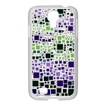 Block On Block, Purple Samsung GALAXY S4 I9500/ I9505 Case (White) Front