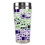 Block On Block, Purple Stainless Steel Travel Tumblers Left