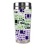 Block On Block, Purple Stainless Steel Travel Tumblers Right