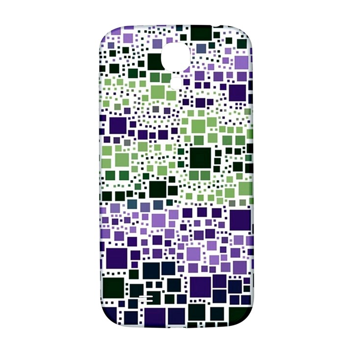 Block On Block, Purple Samsung Galaxy S4 I9500/I9505  Hardshell Back Case