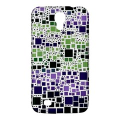Block On Block, Purple Samsung Galaxy Mega 6.3  I9200 Hardshell Case