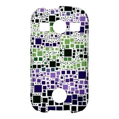 Block On Block, Purple Samsung Galaxy S7710 Xcover 2 Hardshell Case