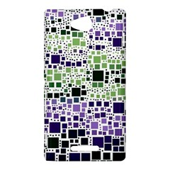 Block On Block, Purple Sony Xperia C (S39H)