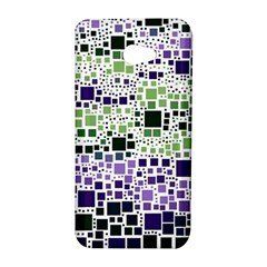 Block On Block, Purple HTC Butterfly S/HTC 9060 Hardshell Case