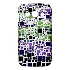 Block On Block, Purple Samsung Galaxy Ace 3 S7272 Hardshell Case