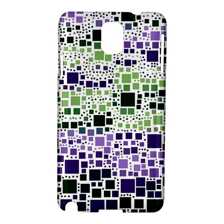 Block On Block, Purple Samsung Galaxy Note 3 N9005 Hardshell Case