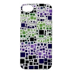 Block On Block, Purple Apple iPhone 5S/ SE Hardshell Case