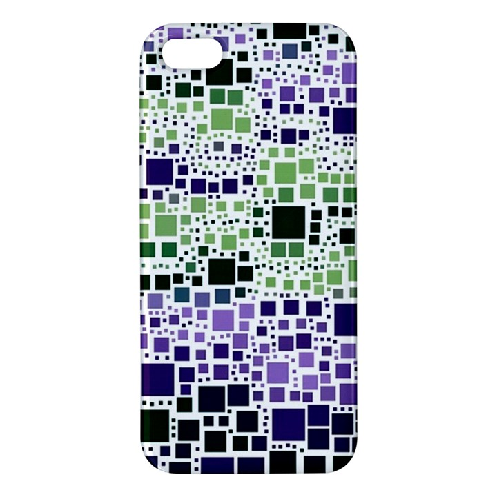 Block On Block, Purple iPhone 5S/ SE Premium Hardshell Case