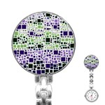 Block On Block, Purple Stainless Steel Nurses Watch Front